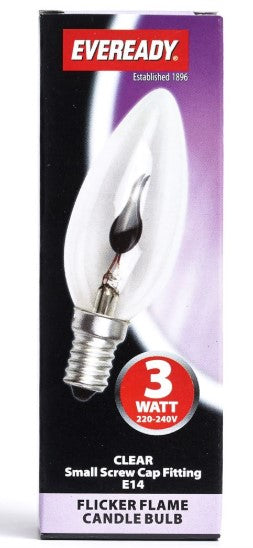 S5959 - Eveready 3W SES Flicker Flame Candle -LED Spares