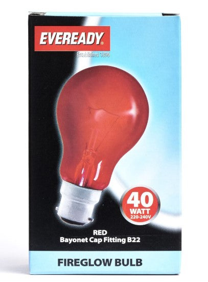 Eveready - 40W BC Fireglow Bulb - LED Spares