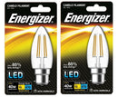 S9029 Energizer Filament LED Candle 4.2W BC (B22) Warm White - LED Spares