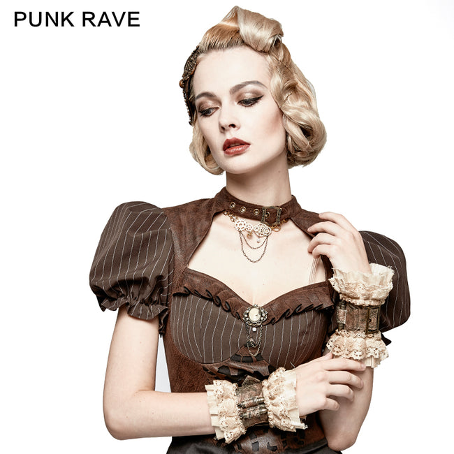 Coffee Heavy Metal Bullet Lace Sleeve Accessories