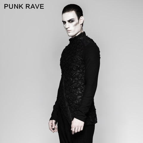 Mandarin Collar Decadent Heavy Long Sleeve Punk T-shirts