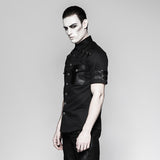 Handsome Military Short Sleeve Punk Shirts
