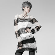 Fashion Broken Pullover Striped Punk Sweaters