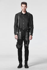 Stock Items Black Punk Pants For Men