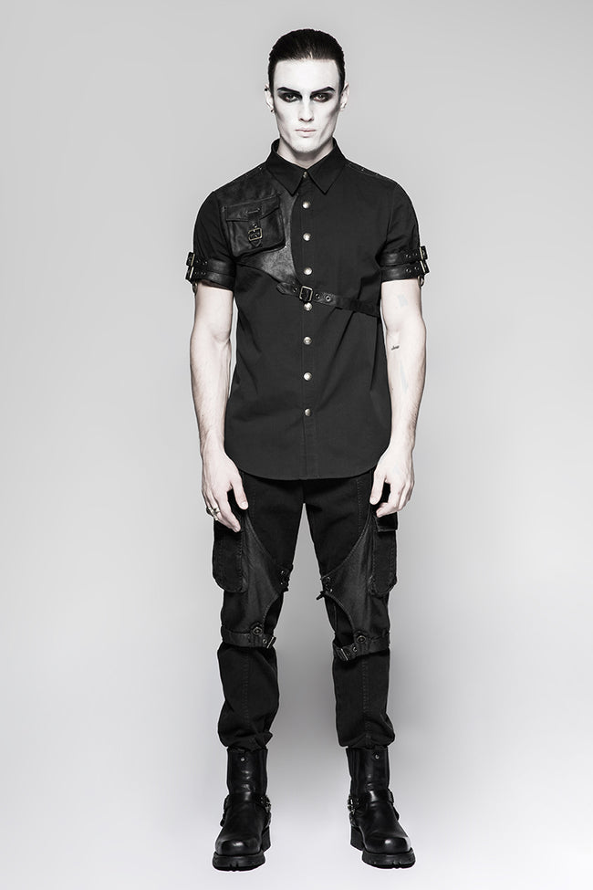 Latest Style Exquisite Woven Man Punk Shirts