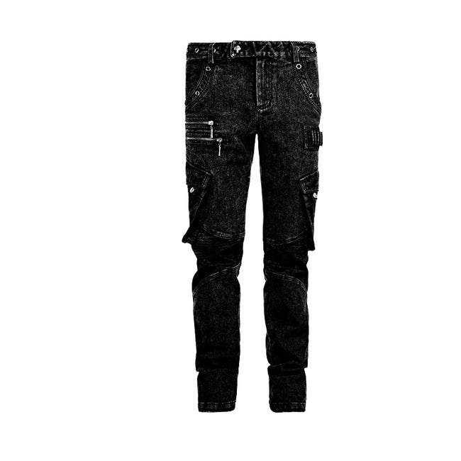 New Design Cotton Black Jean Punk Pants For Men