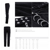 New Design Pure Cotton Black Punk Pants For Men