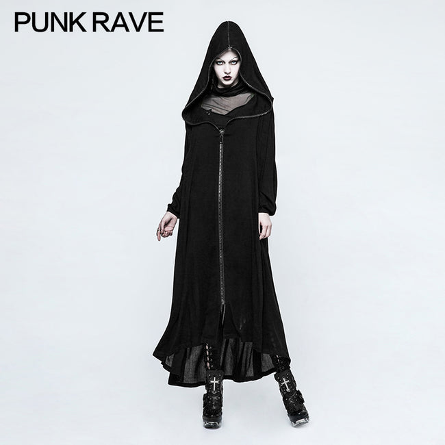 Winter Handsome Soft Long Gothic Jacket Knitting Cross Coat