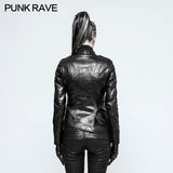 Motorcycle  Slim-fitting Leather Punk Jacket For Women