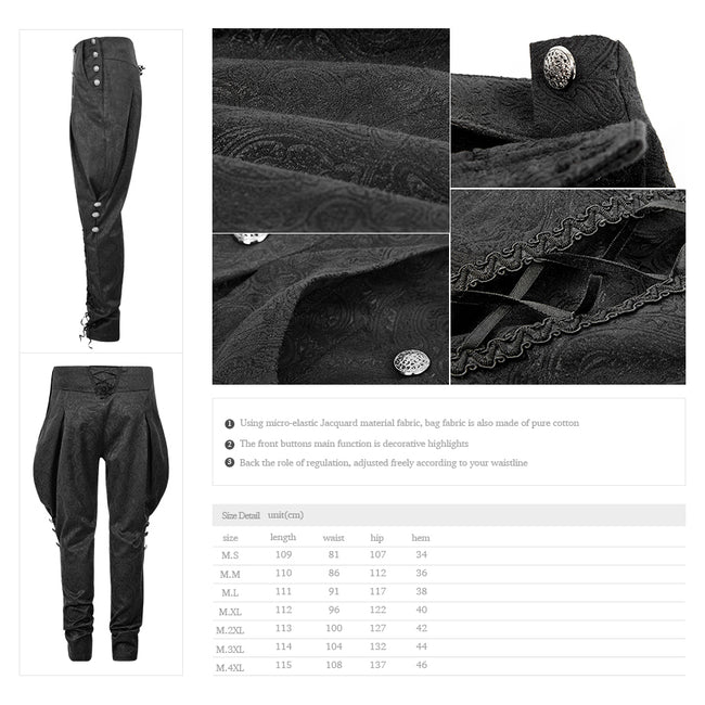 Spring Latest Design Breeches Gothic Pants