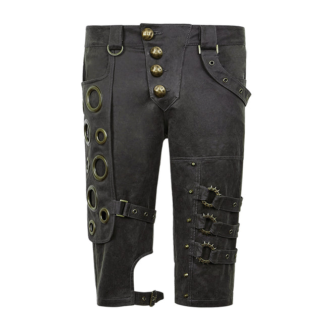 Spring Unique Designs Black Rock Slim Punk Pants For Men