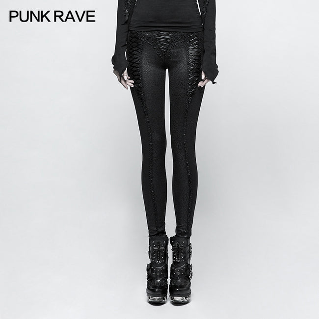 Slim Long Vintage Gothic Pants Leggings With Invisible Zipper