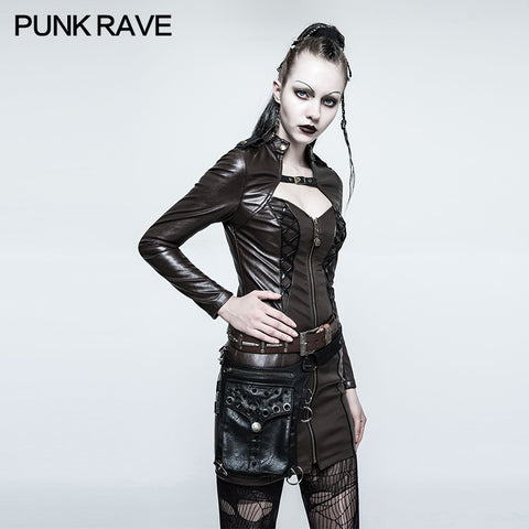 Adjustable Punk Accessories Multi Function Bag With D Button Hook