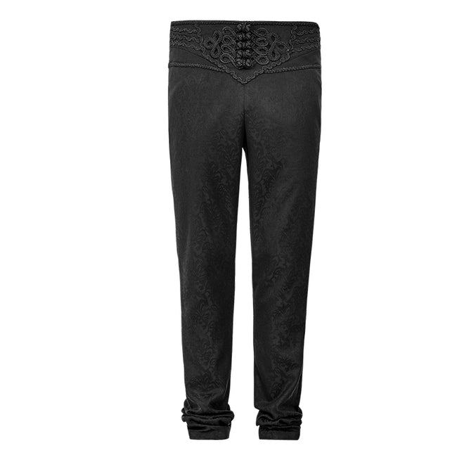 Spring Vintage Button Slim Feet Gothic Pants