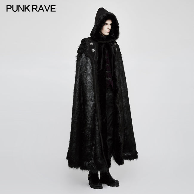 Winter Woolen Worsted Witch Long Gothic Coat For Men