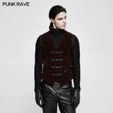 High Quality Velvet Printing Gothic Vest For Men