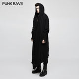 Loose Dark Death Punk Coat With Asymmetric Design