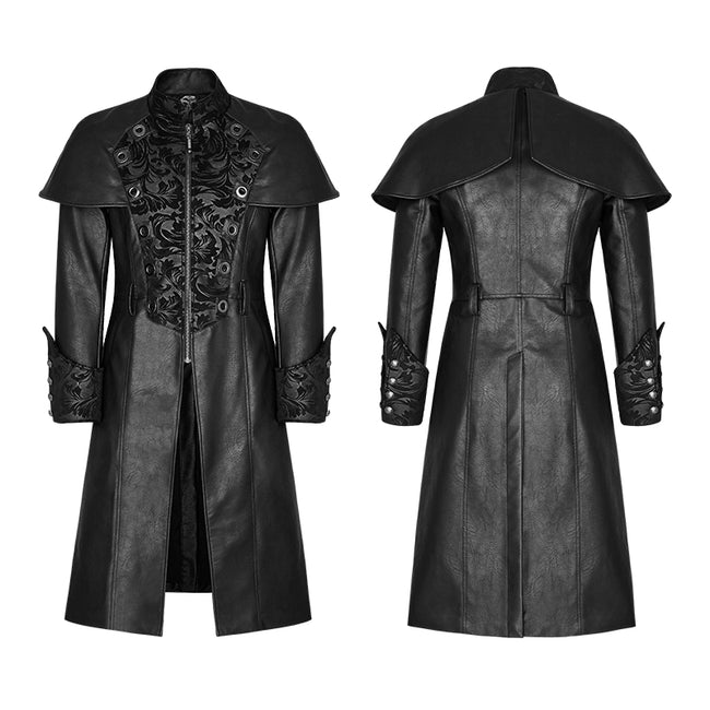 Steampunk Gorgeous Vintage Leather Punk Coat Medium Style