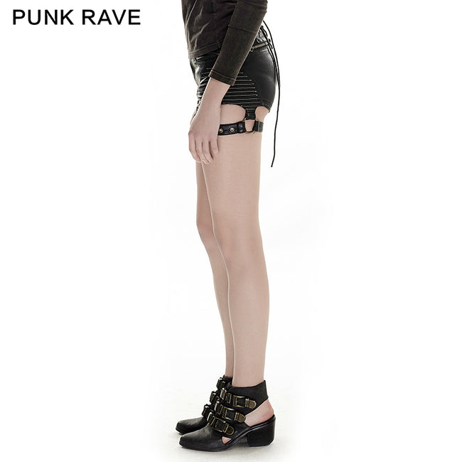 Summer Hot Sexy Tight Leather Short Punk Pants