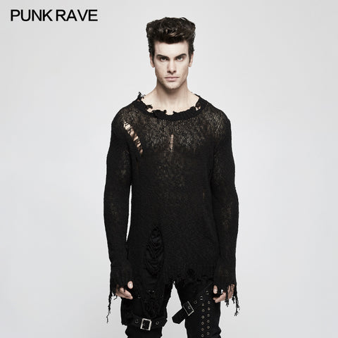 Thinner Yarn Loose Punk Sweaters Pullover With Decadence Feeling