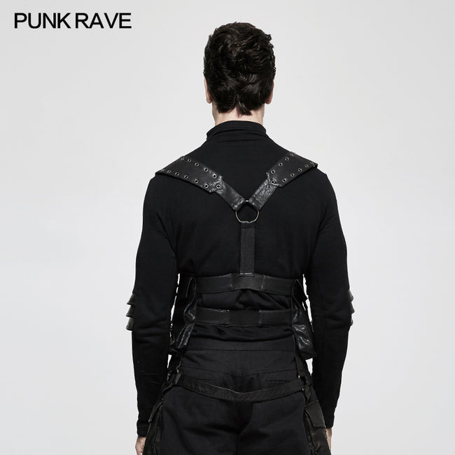 Rough-texture Punk Accessories Straps With Bags And Adjustable Buckle