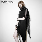 Skinny Soft Detachable Two-pieces Set Gothic Dress With Mesh Collar Blouse