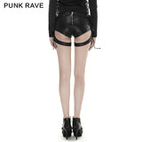 Latest Fashion Sexy Women Vintage Leather Punk Pants