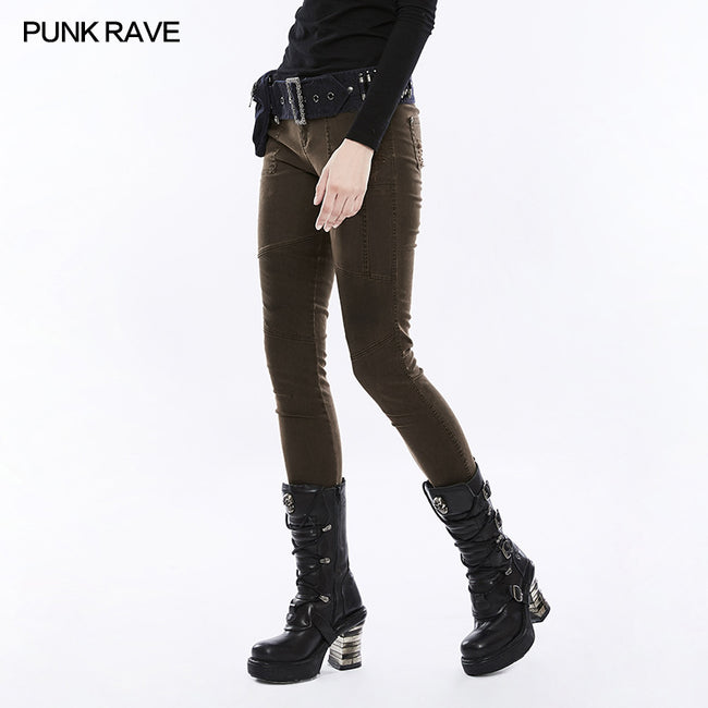 Daily Personality Military Uniform Punk Pants