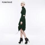 High-class Elastic Sexy Hollow Out Gothic Dress With Asymmetry Hem