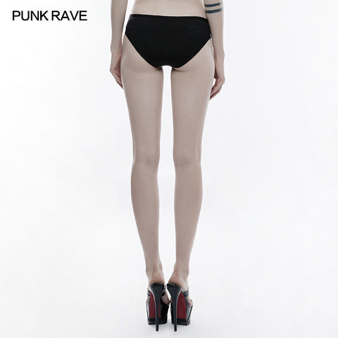 Personality Swimwear Punk Accessories Stretch Swimsuit Bottom