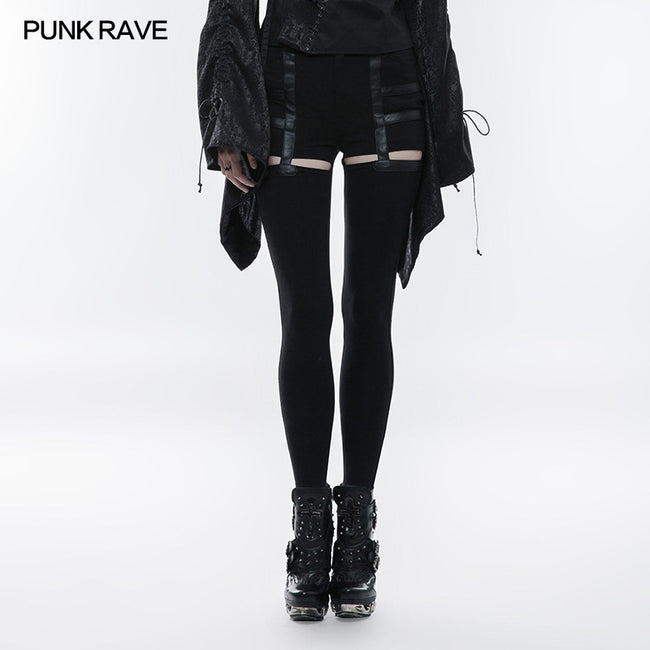 Daily Punk Pants Hollow-out Stretchy Leggings