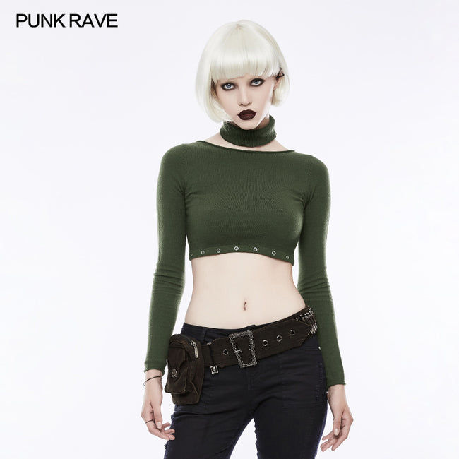 Personality Punk Accessory Removable Belt With Vertical Bag