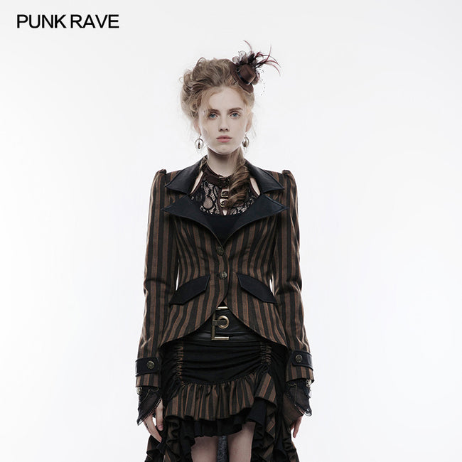 Steampunk High-low Style Punk Jacket For Women