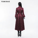 Gorgeous Jacquard Fabric Gothic Coat For Women