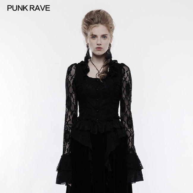 Gorgeous Elastic Lace Fabric Gothic Jacket For Women