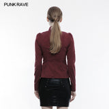 Handsome Soft Elastic Punk Shirt For Women
