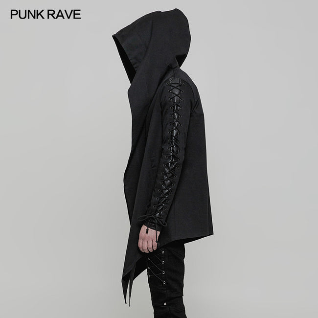 Handsome Loose Hooded Punk Coat For Men