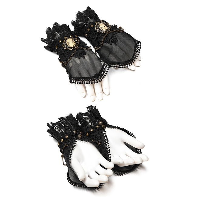 Mesh Fabric Punk Accessory Lace Steampunk Glove