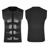 Skinny Muscular Sleeveless Punk T-shirt For Men