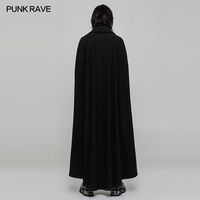 Handsome Long Irregular Uniform Gothic Cloak With Sleeve Slit On Front