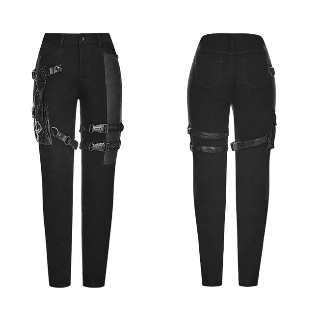 Futuristic Elastic Tight Trousers Punk Pants For Women