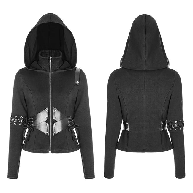 Witch Short Hooded Cardigan Punk Sweater Coat
