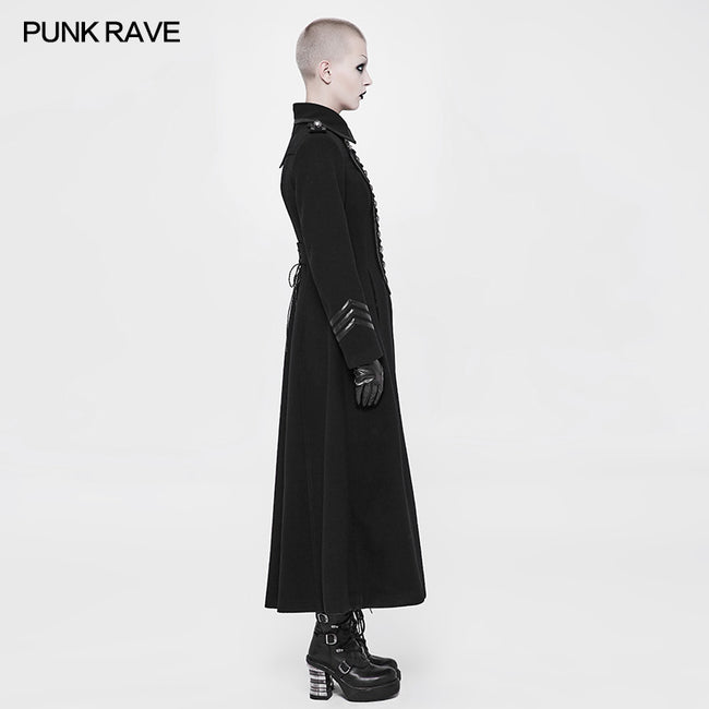 Exquisite Woolen Gothic Jacket Uniform Retro Trench Coat