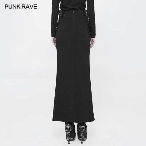 Handsome Military Uniform Long Punk Skirt For Women