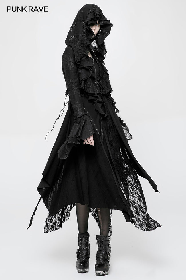 Gothic Decadent Short Coat Lace Mesh Shrug Bolero