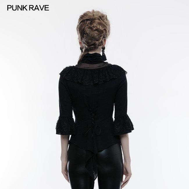 Gothic Phoenix Tail Three-Quarter Sleeves Shirt For Women