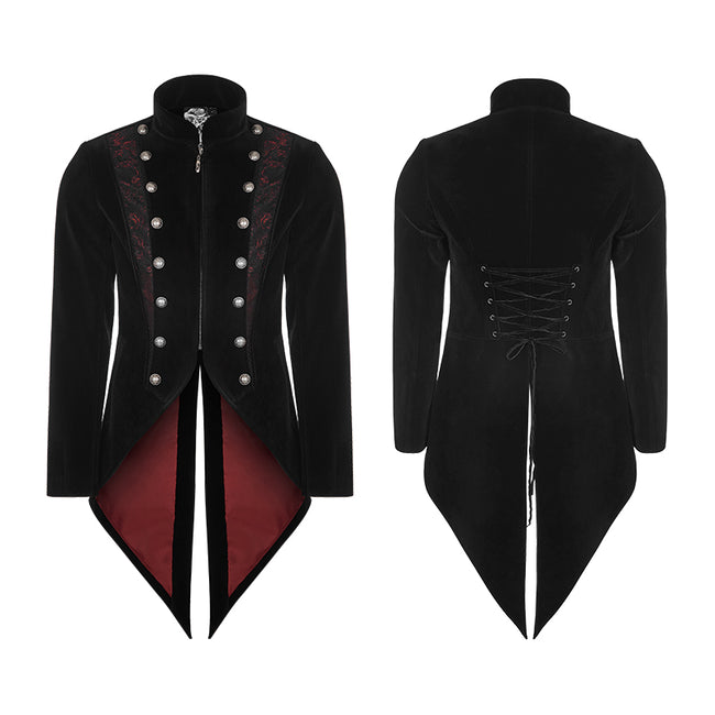 Gorgeous Tailcoat Velvet & Jacquard Men's Gothic Dress Coat