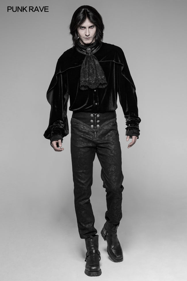 Dracula Dark Gothic Embossing Trousers Gorgeous Straight Pants