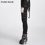 Hot Sale Broken Mesh Gothic Pants/leggings For Women