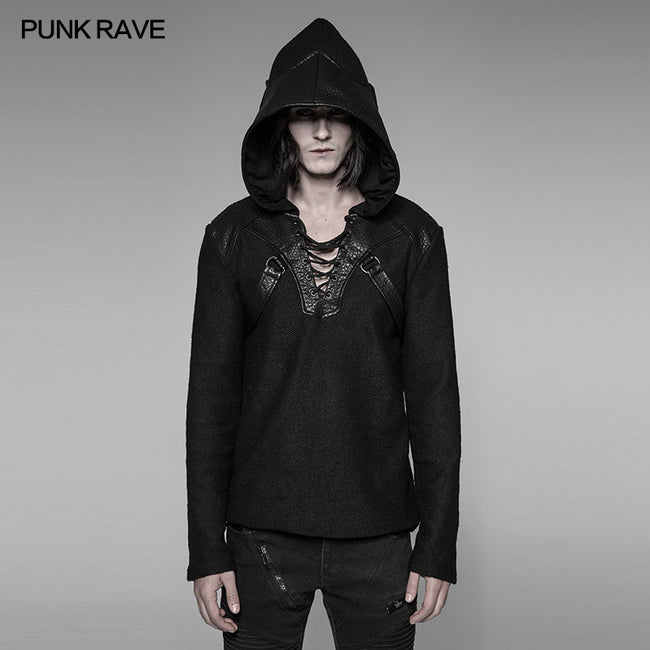 Dark Evil Dragon Pullover Mosaic Punk Hoodies For Men